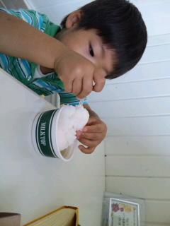 「MILK TOP」のアイスクリーム♪