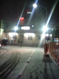 西国分寺の雪。